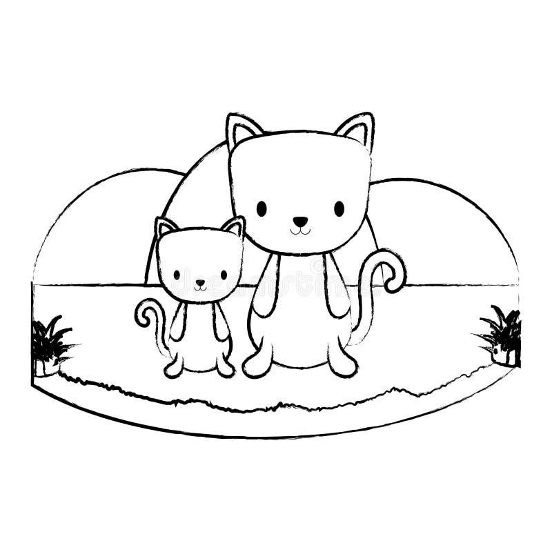 Projeto bonito dos animais ilustração royalty free