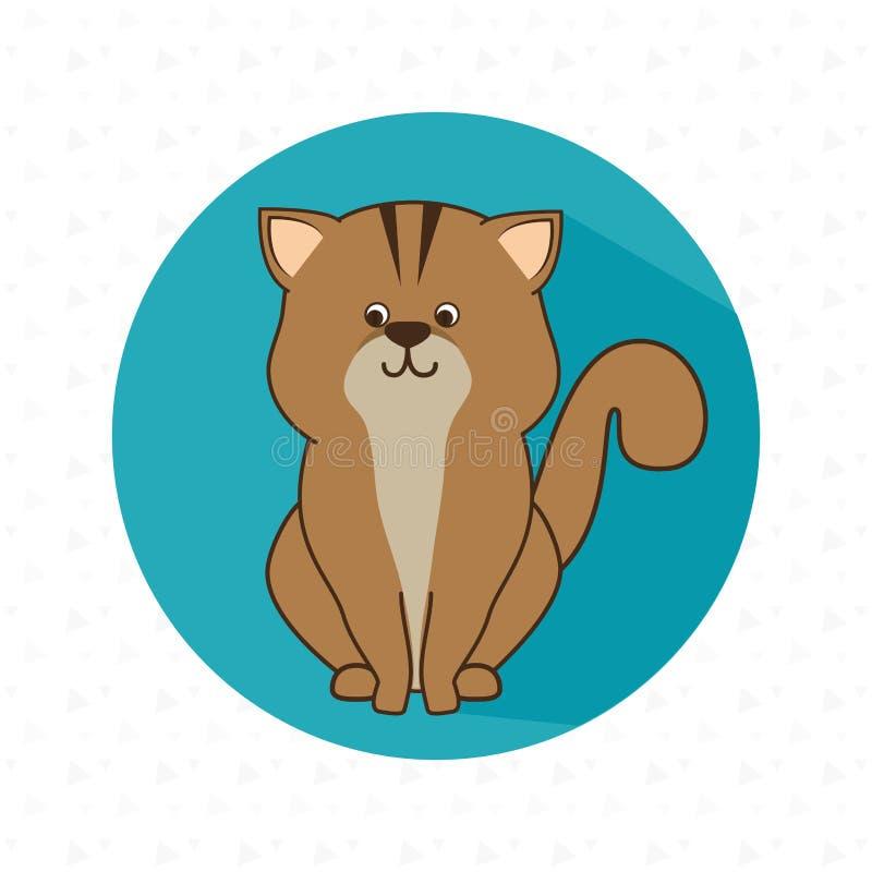 projeto bonito dos animais de estimação ilustração royalty free