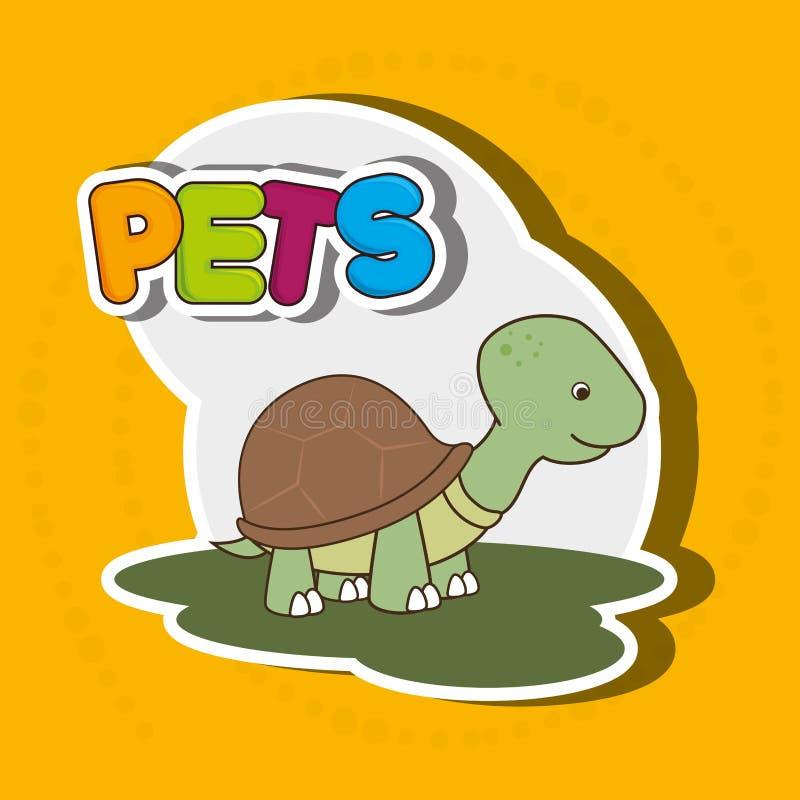 projeto bonito dos animais de estimação ilustração stock