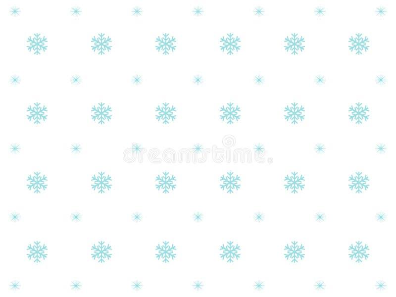 Projeto branco maravilhoso do fundo com flocos de neve azuis ilustração stock