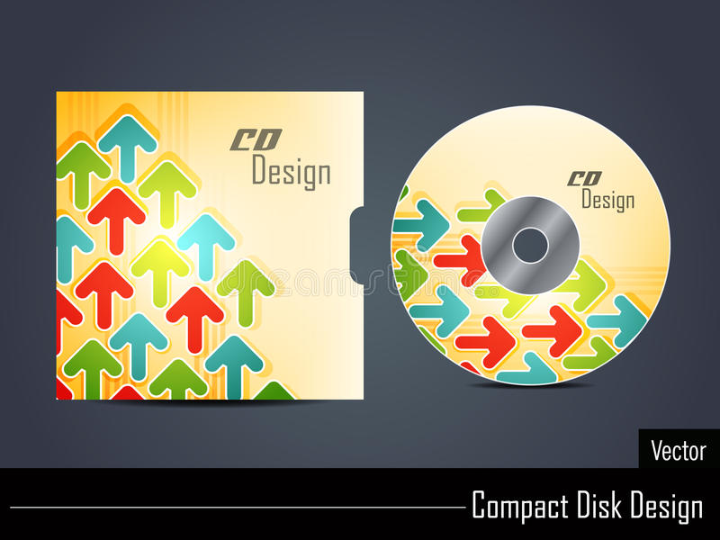 Projeto CD da tampa ilustração do vetor