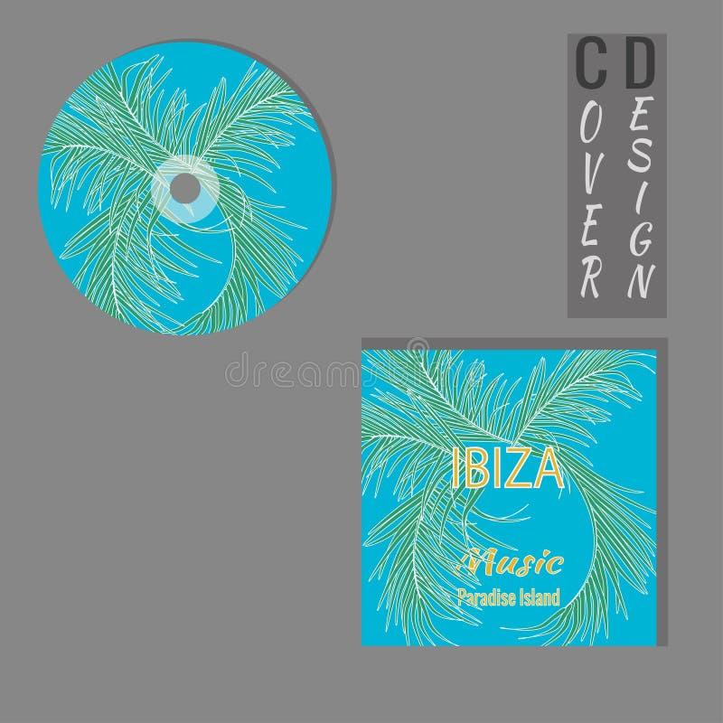 Projeto CD da tampa com espa?o da c?pia Molde do projeto da apresenta??o ilustração stock