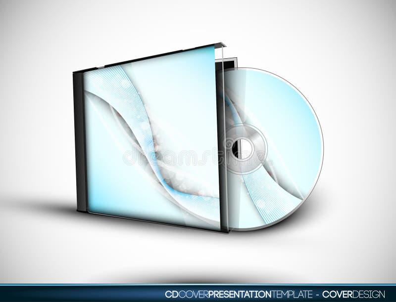 Projeto CD da tampa com molde da apresentação 3D ilustração do vetor