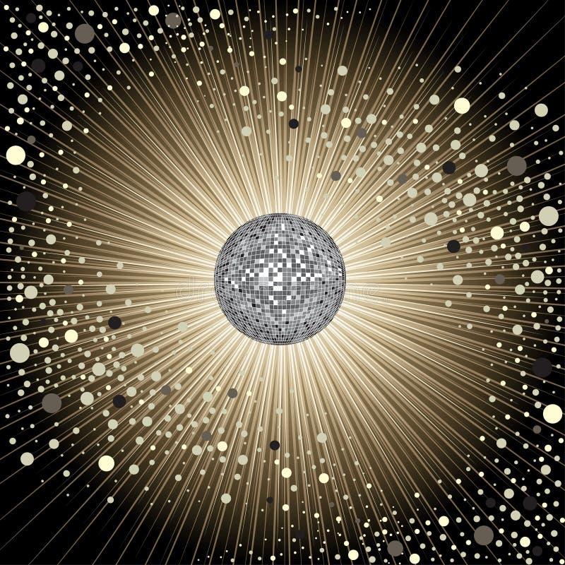 Projeto CD da tampa do vetor com disco-esfera ilustração royalty free