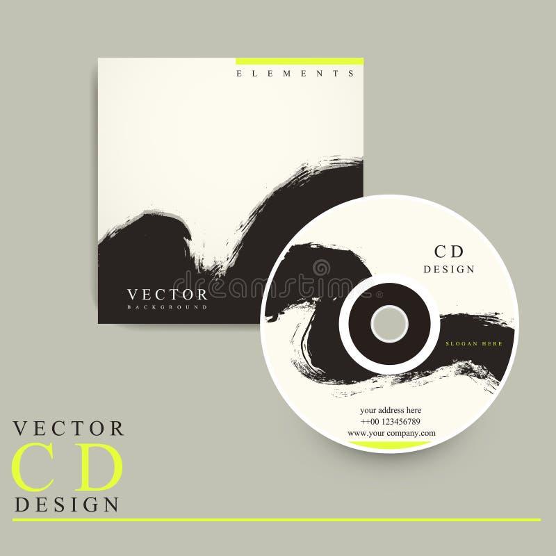 Projeto chinês da tampa do CD do estilo da caligrafia ilustração do vetor