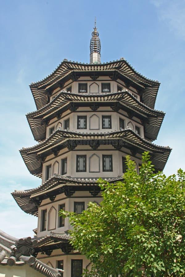 Projeto chinês do edifício do estilo do templo foto de stock