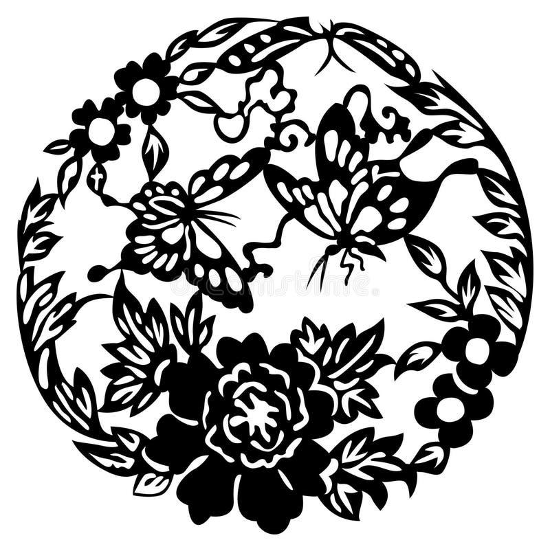 Projeto chinês do elemento ilustração stock