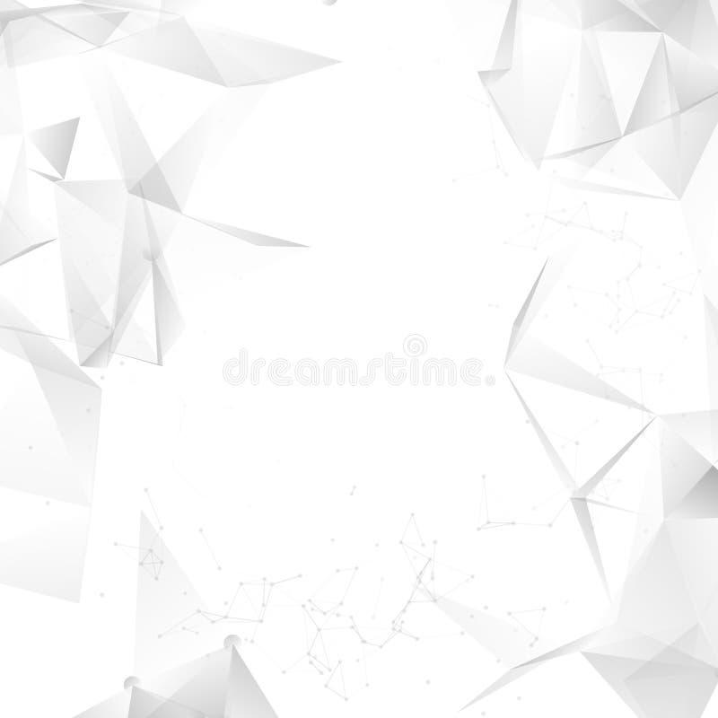 Projeto cinzento abstrato do fundo do vetor Teste padrão gráfico branco claro do illustartion ilustração royalty free