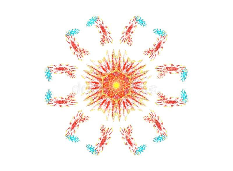 Projeto circular decorativo ilustração royalty free