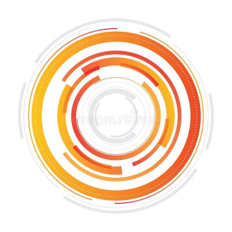 Projeto circular técnico ilustração royalty free
