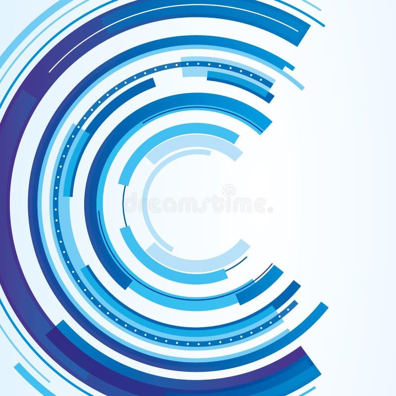 Projeto circular técnico ilustração do vetor