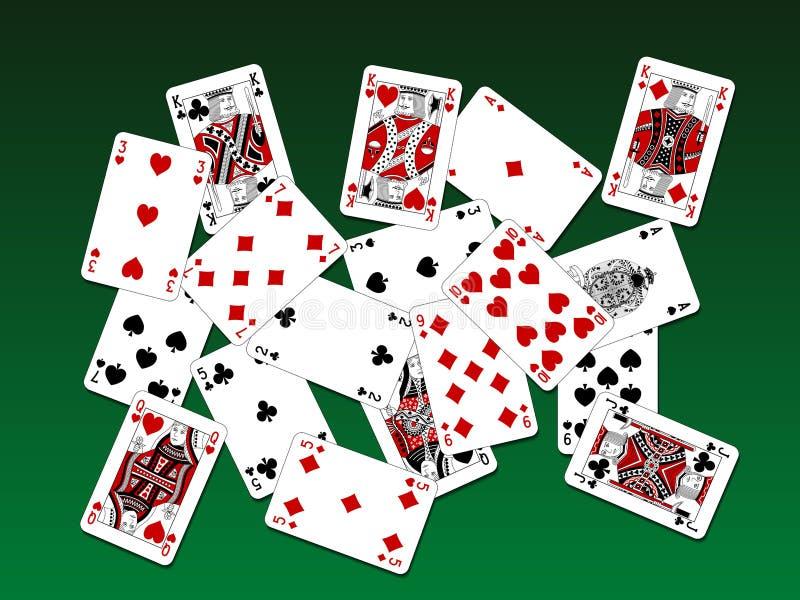 Projeto clássico de duas cores dos cartões de jogo na plataforma ilustração royalty free