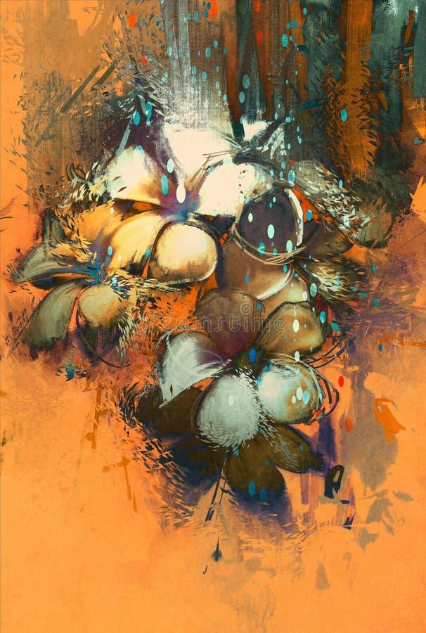 Projeto colorido abstrato bonito das flores ilustração stock
