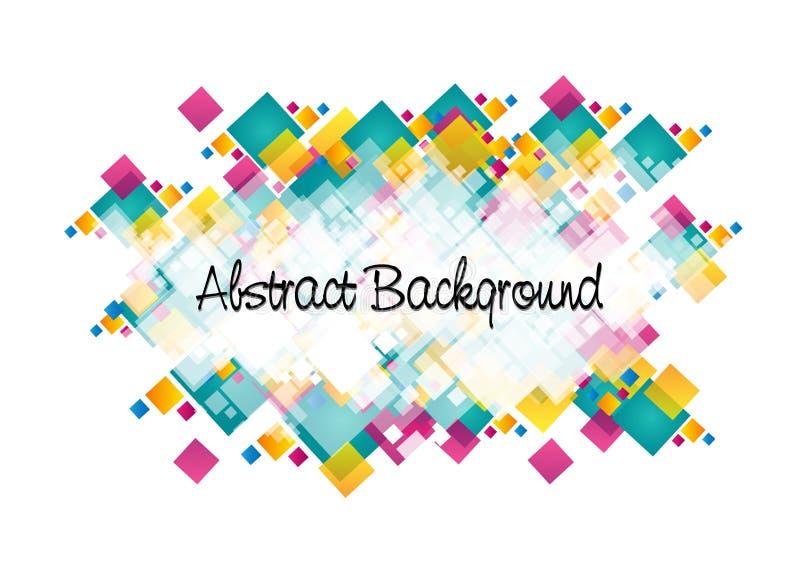 Projeto colorido abstrato do fundo do squre ilustração stock