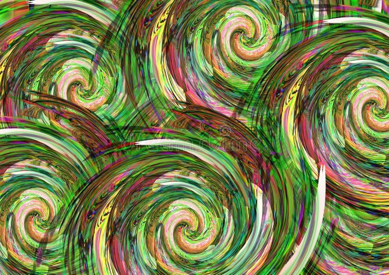 Projeto colorido abstrato do fundo do teste padrão Projeto e vales-oferta de cartão ilustração stock