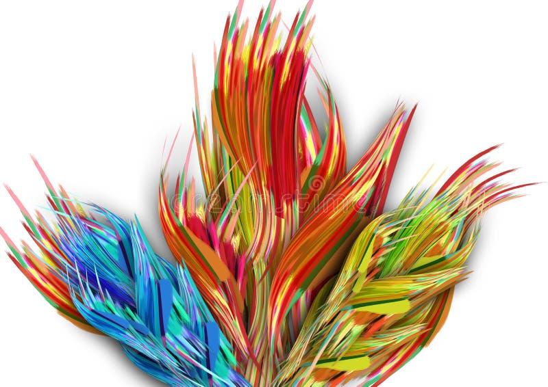 Projeto colorido abstrato do fundo do teste padrão Projeto e vales-oferta de cartão ilustração royalty free