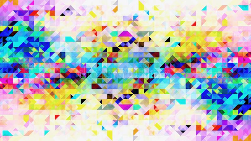 Projeto colorido abstrato do teste padrão das formas do triângulo ilustração do vetor