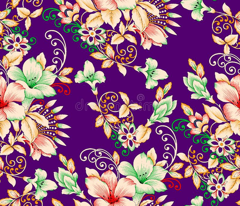 Projeto colorido bonito da cópia da flor ilustração do vetor