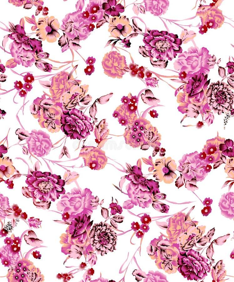 Projeto colorido bonito da cópia da flor ilustração stock