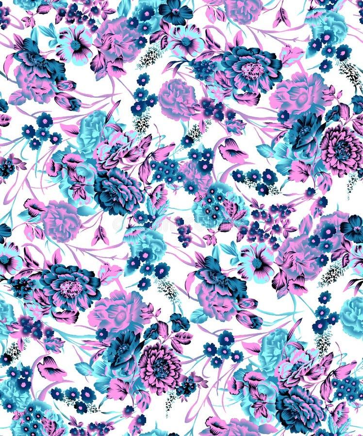 Projeto colorido bonito da cópia da flor ilustração royalty free