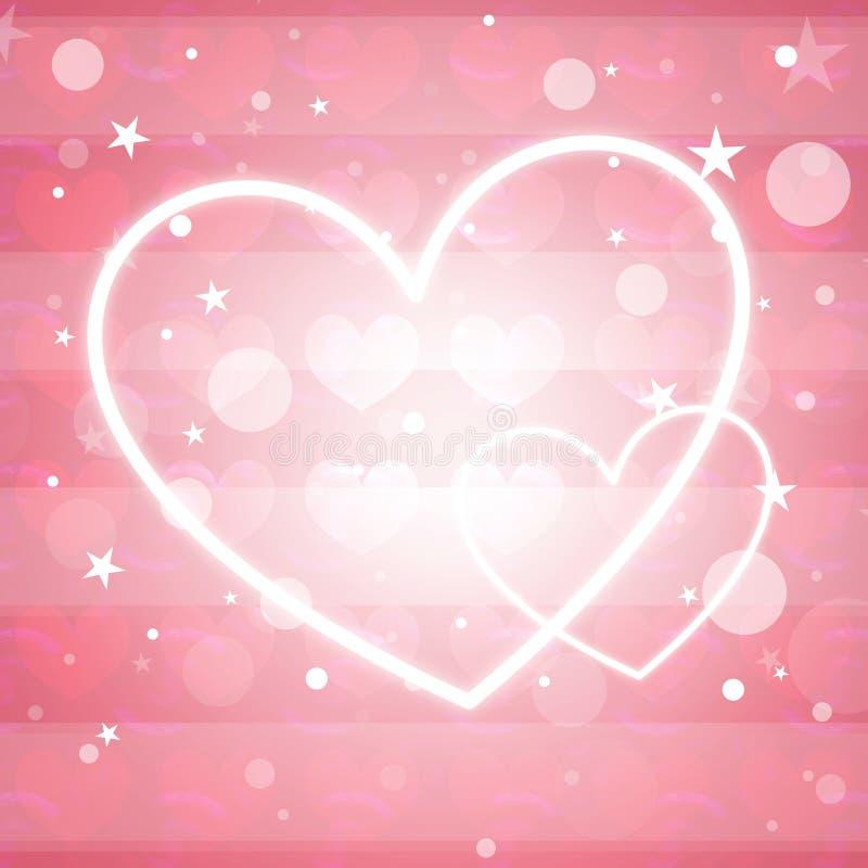 Projeto colorido bonito do coração ilustração stock