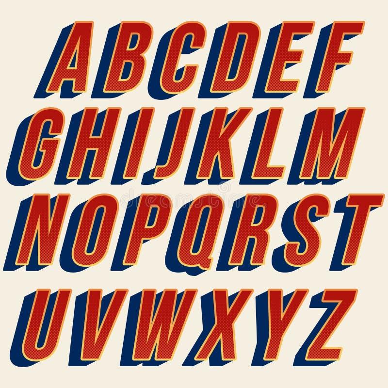 Projeto colorido corajoso vermelho da tipografia ilustração royalty free