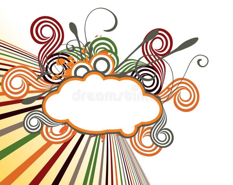 Projeto colorido creativo abstrato ilustração do vetor