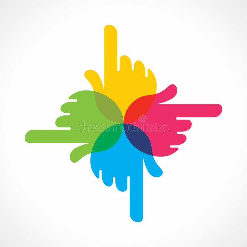 Projeto colorido criativo do ícone da mão ilustração royalty free