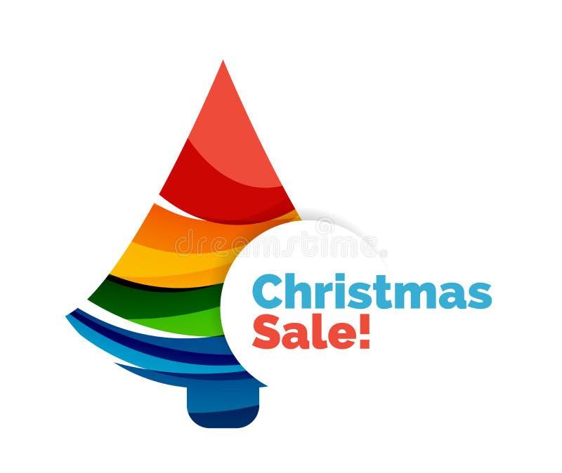 Projeto colorido da bandeira do sumário da venda do Natal com bolhas ilustração do vetor