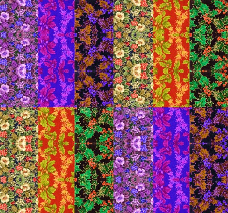 Projeto colorido da edredão fotografia de stock royalty free