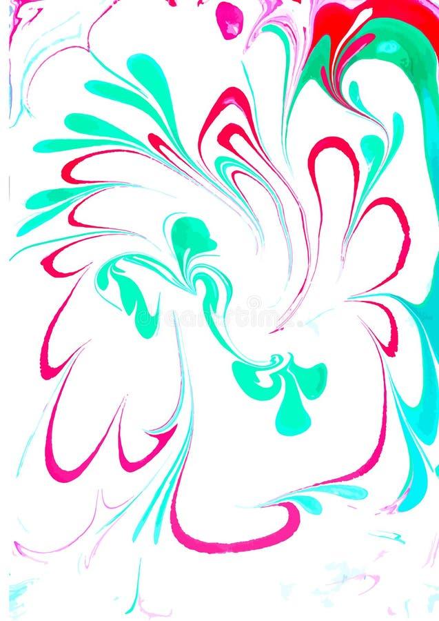 Projeto colorido das tampas do vetor ajustado com texturas Close up da pintura Fundo pintado ? m?o brilhante abstrato ilustração do vetor