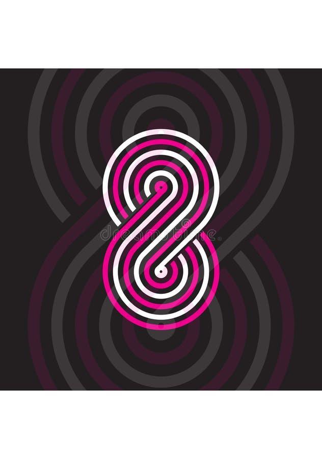 Projeto colorido de 8 logotipos ilustração royalty free