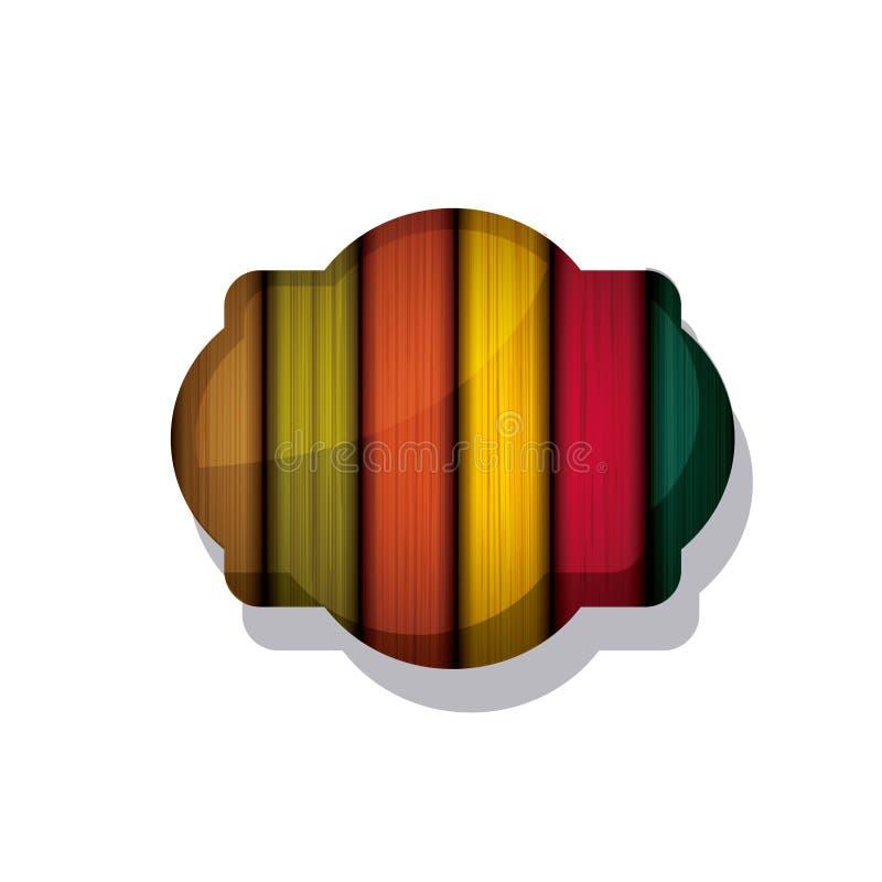 Projeto colorido de madeira e listrado do quadro ilustração royalty free