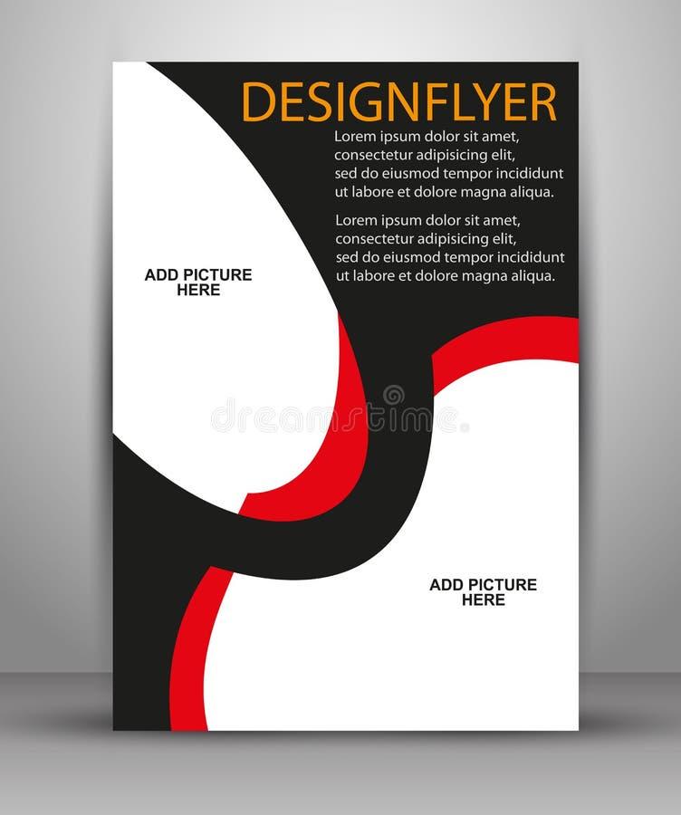 Projeto colorido do folheto do vetor Molde do inseto para o negócio ilustração do vetor