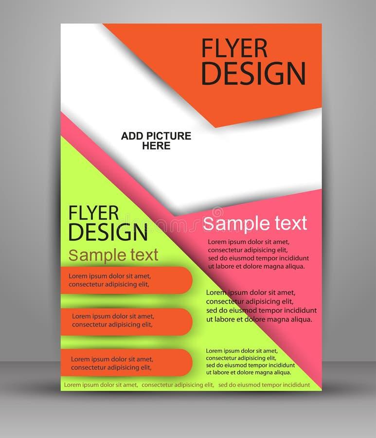 Projeto colorido do folheto Molde do inseto para o negócio, educação, apresentação ilustração do vetor
