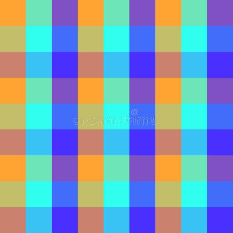 Projeto colorido do mosaico do fundo geométrico quadriculado sem emenda do teste padrão do vetor da manta feito do vintage clássi ilustração royalty free