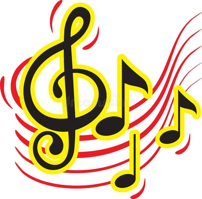 Projeto colorido do sinal da música ilustração stock
