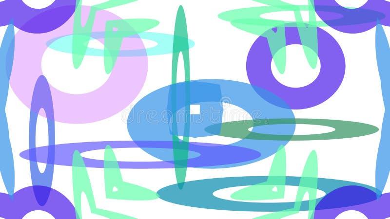 projeto colorido dos círculos de tamanhos diferentes ilustração do vetor