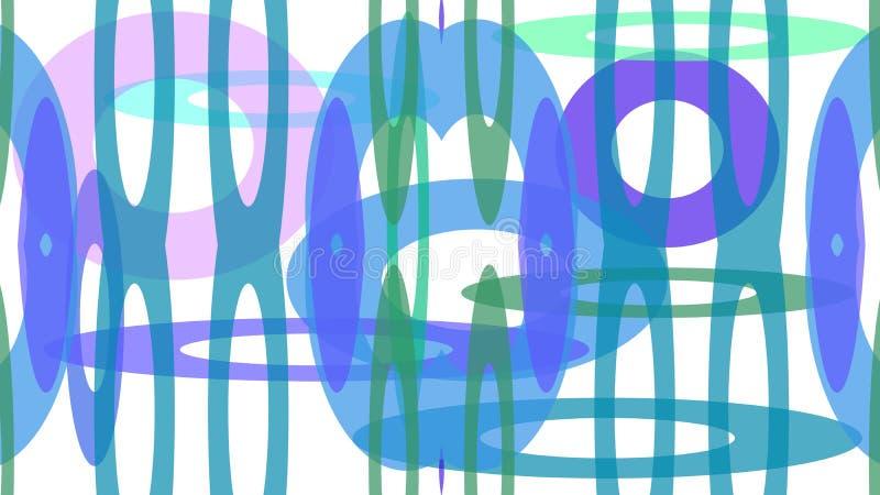projeto colorido dos círculos de tamanhos diferentes ilustração stock