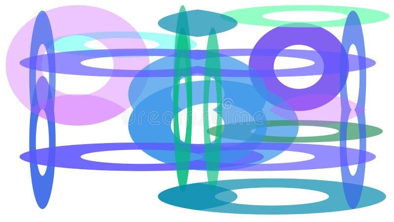 projeto colorido dos círculos de tamanhos diferentes ilustração royalty free