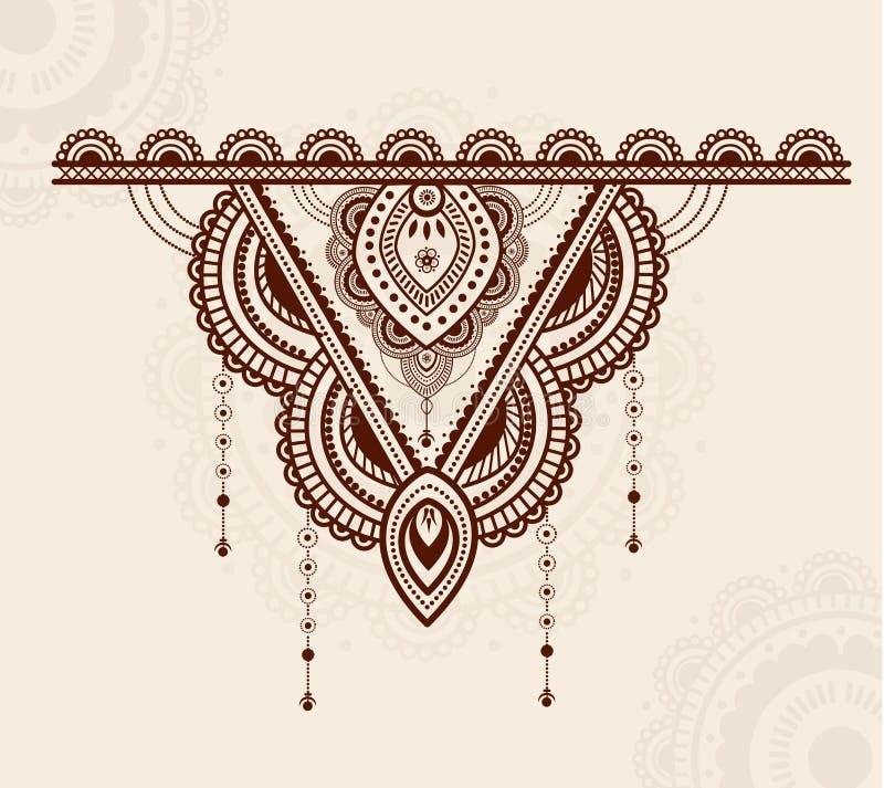 Projeto colorido e luxuoso elegante do ornamento da mandala ilustração do vetor