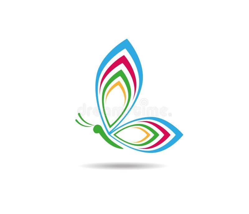 Projeto colorido majestoso gracioso bonito do logotipo da borboleta ilustração royalty free