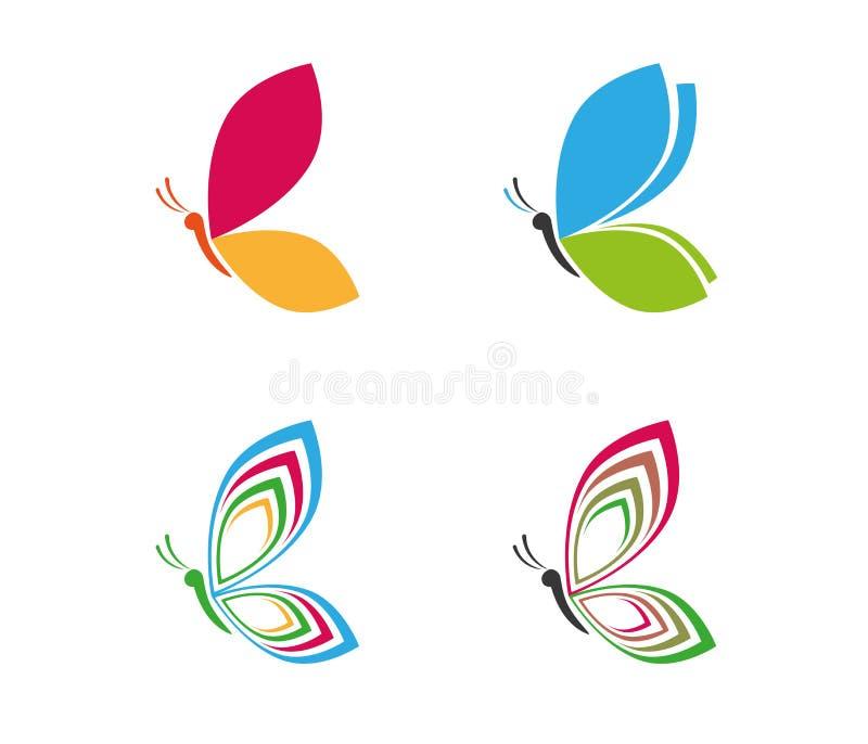 Projeto colorido majestoso gracioso bonito do logotipo da borboleta ilustração do vetor