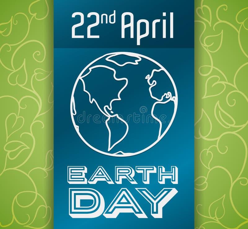 Projeto comemorativo para o Dia da Terra, ilustração do vetor ilustração royalty free