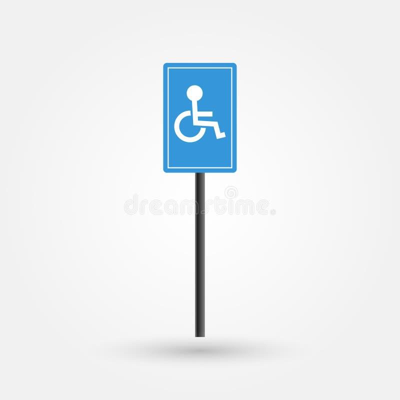 Projeto conservado em estoque do sinal da zona de estacionamento da inutilização do vetor ilustração royalty free