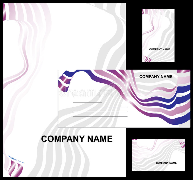 Projeto contemporâneo do negócio ilustração do vetor