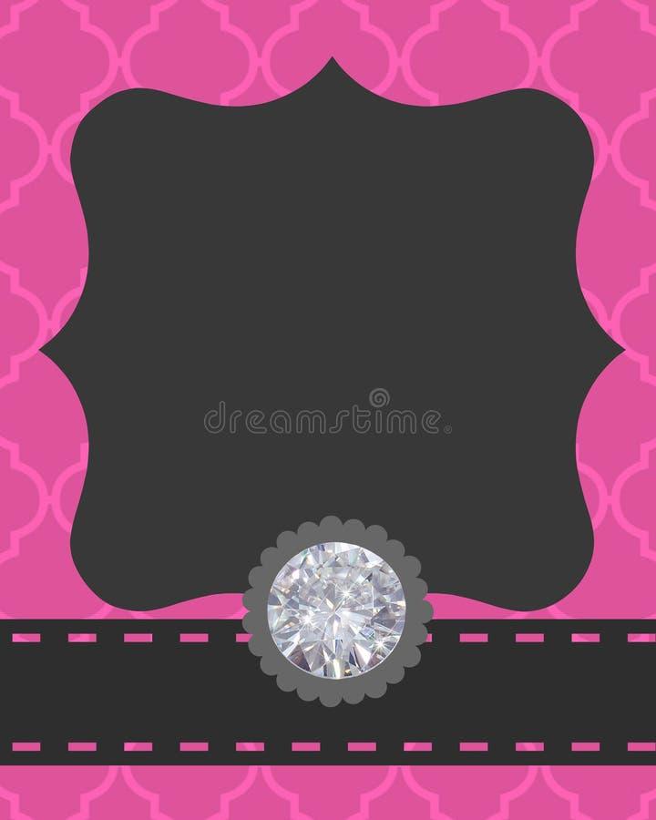 Projeto cor-de-rosa de Gray Black e de Bling fotografia de stock royalty free