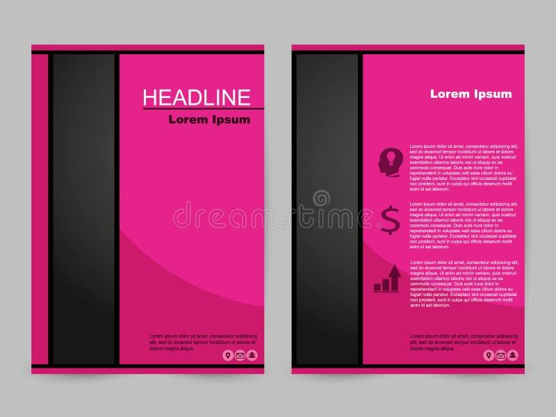 Projeto cor-de-rosa do folheto ilustração do vetor