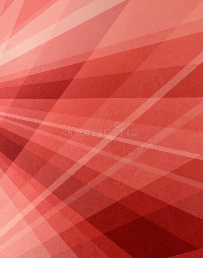Projeto cor-de-rosa e branco vermelho abstrato do fundo com textura e linha de grade projeto da perspectiva ilustração do vetor