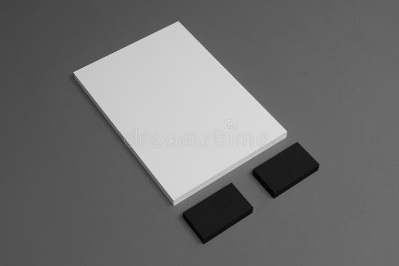 Projeto corporativo do molde dos artigos de papelaria fotografia de stock